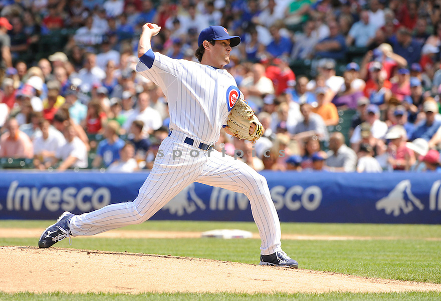 CASEY COLEMAN, of the Chicago Cubs, in action during the Cubs game against the  San Diego Padres at Wrigley Field in Chicago, IL. on August 18, 2010.   The Padres win the game 5-1....
