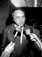 Gilbert Paquette attend the Parti Quebecois' Conseil National Extrordinaire at Montreal's convention centre, January 18 and 19, 1985.<br /> <br /> File Photo : Agence Quebec Presse - Pierre Roussel