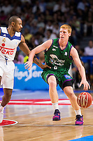 Real Madrid's player Dontaye Draper and Unicaja Malaga's player Alberto Diaz during match of Liga Endesa at Barclaycard Center in Madrid. September 30, Spain. 2016. (ALTERPHOTOS/BorjaB.Hojas) /NORTEPHOTO