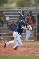 San Diego Padres outfielder Tyler Benson (26) during a Minor League Spring Training game against the Seattle Mariners at Peoria Sports Complex on March 24, 2018 in Peoria, Arizona. (Zachary Lucy/Four Seam Images)