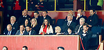 Out of work managers Billy Davies and Paul Hartley in the Firhill directors box