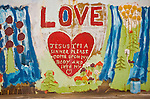 Heart with Love created by Leonard Knight artist and creator of Salvation Mountain by the Slabs near Niland, Calif...Leonard Knight is a gentle and friendly man who is sharing his passion for God with all comers in the Imperial Valley.