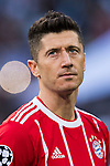 Robert Lewandowski of FC Bayern Munich looks on prior to the UEFA Champions League Semi-final 2nd leg match between Real Madrid and Bayern Munich at the Estadio Santiago Bernabeu on May 01 2018 in Madrid, Spain. Photo by Diego Souto / Power Sport Images