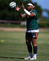 DURBAN, SOUTH AFRICA -Monday February 18th: Ma'a Nonu of the Blues during the Blues Training at Northwood School Durban North, on February 18th, 2019 in Durban, South Africa. Photo by Steve Haag / stevehaagsports.com