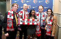Mark Parsons, Crystal Dunn. The NWSL draft was held at the Pennsylvania Convention Center in Philadelphia, PA, on January 17, 2014.