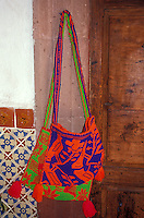 Huichol Indian woven bag for sale in San Miguel de Allende, Mexico