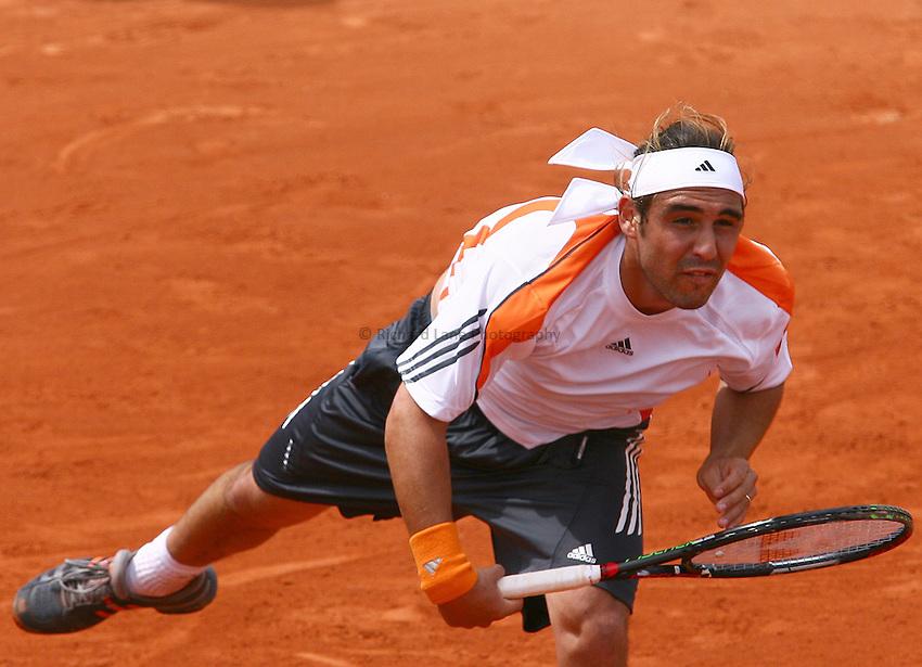Photo: Iconsport/Richard Lane Photography..Roland Garros 2006..01/06/2006. .Marcos Baghdatis.