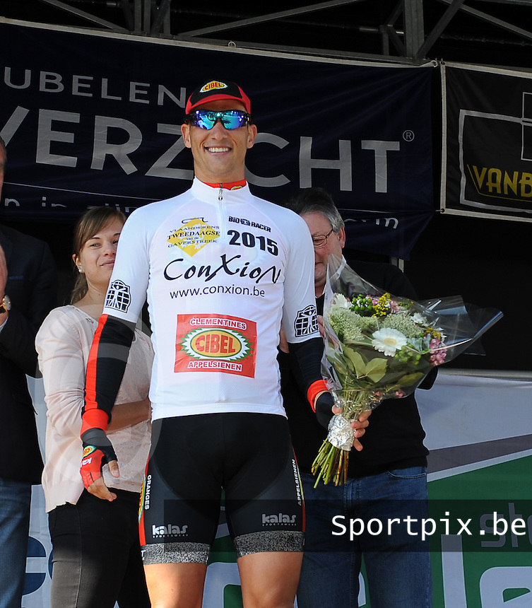 2 daagse Gaverstreek 2015 :<br /> <br /> podium met eindwinnaar Joeri Stallaert<br /> Foto VDB / Bart Vandenbroucke