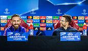 4th December 2017, Rome, Italy; AS Roma press conference ahead of the Champions league match versus FK Qarabag; captain Daniele De Rossi and coach Eusebio Di Francesco