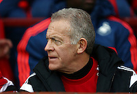 Swansea City caretaker manager Alan Curtis during the Barclays Premier League match between Manchester United and Swansea City played at Old Trafford, Manchester on January 2nd 2016