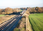 First Great Western inter-city diesel train on the West Coast mainline Woodborough, Wiltshire, England, UK