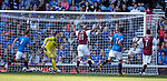 Alan Cook's effort loops into the net to put Arbroath 1-0 up at Ibrox