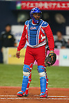 Eriel Sanchez (CUB), .February 27, 2013 - WBC : .2013 World Baseball Classic, Exhibithion Game .match between Cuba 3-2 Hanshin Tigers .at Kyocera Dome, Osaka, Japan..(Photo by AJPS/AFLO SPORT) [1045]