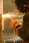 Arc welding, high rise construction building