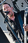 Volbeat playing Pointfest, May 2013 at Verizon Wireless Amphitheater, St. Louis MO.