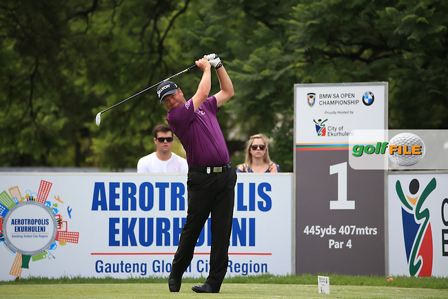 Doug McGuigan (SCO) in action during Round Three of the 2016 BMW SA Open hosted by City of Ekurhuleni, played at the Glendower Golf Club, Gauteng, Johannesburg, South Africa.  09/01/2016. Picture: Golffile | David Lloyd<br /> <br /> All photos usage must carry mandatory copyright credit (&copy; Golffile | David Lloyd)