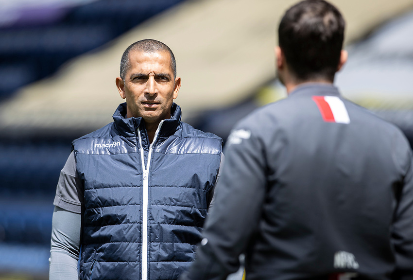 Nottingham Forest's manager Sabri Lamouchi <br /> <br /> Photographer Andrew Kearns/CameraSport<br /> <br /> The EFL Sky Bet Championship - Preston North End v Nottingham Forest - Saturday 11th July 2020 - Deepdale Stadium - Preston <br /> <br /> World Copyright © 2020 CameraSport. All rights reserved. 43 Linden Ave. Countesthorpe. Leicester. England. LE8 5PG - Tel: +44 (0) 116 277 4147 - admin@camerasport.com - www.camerasport.com