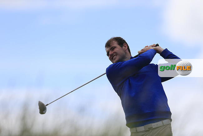 Jake Whelan (Newlands) during the 2nd round of the East of Ireland championship, Co Louth Golf Club, Baltray, Co Louth, Ireland. 03/06/2017<br /> Picture: Golffile | Fran Caffrey<br /> <br /> <br /> All photo usage must carry mandatory copyright credit (&copy; Golffile | Fran Caffrey)