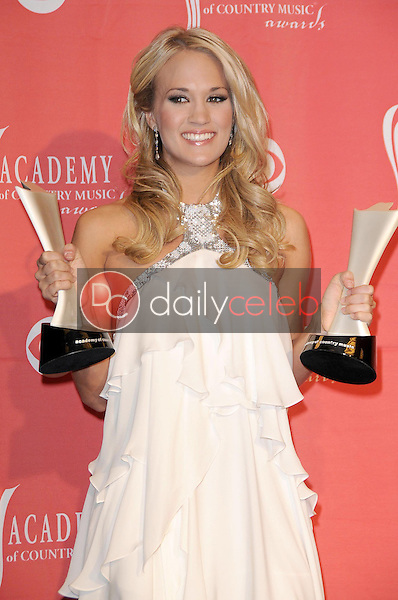 Carrie Underwood<br />in the press room at the 44th Annual Academy of Country Music Awards. MGM Grand Garden Arena, Las Vegas, NV. 04-05-09<br />Dave Edwards/DailyCeleb.com 818-249-4998