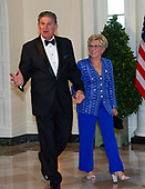 United States Senator Joe Manchin III (Democrat of West Virginia) and Gayle Manchin arrive for the State Dinner hosted by United States President Donald J. Trump and First lady Melania Trump in honor of Prime Minister Scott Morrison of Australia and his wife, Jenny Morrison, at the White House in Washington, DC on Friday, September 20, 2019.<br /> Credit: Ron Sachs / Pool via CNP