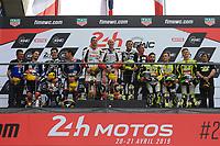 #50 MOTORS EVENTS (FRA) SUZUKI GSXR 1000 SUPERSTOCK  WESTMORELAND JAMES (GBR) NIGON JOHAN (FRA) GANFORNINA ADRIEN (FRA) <br /> WINNER CATEGORY SUPERTOCK<br /> #96 MOTO AIN (FRA) YAMAHA YZF R1 SUPERSTOCK  ROLFO ROBERTO (ITA) MULHAUSER ROBIN (SUI) HILL STEFAN (GBR)<br /> #33 TEAM 33 COYOTE LOUIT MOTO (FRA) KAWASAKI ZX 10R SUPERSTOCK  BOULOM ENZO (FRA) LEESCH CHRIS (LUX) MANFREDI KEVIN (ITA)