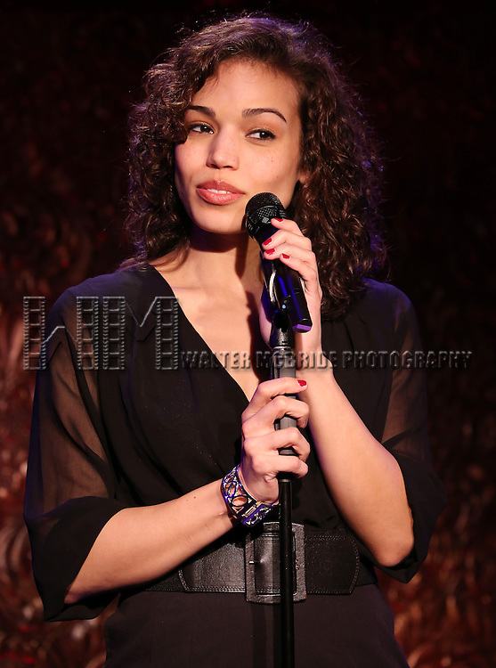 """Ciara Renee performs A Special Press Preview of their upcoming show """"The Wild Party Swings""""  at 54 Below on April 4, 2014 in New York City."""