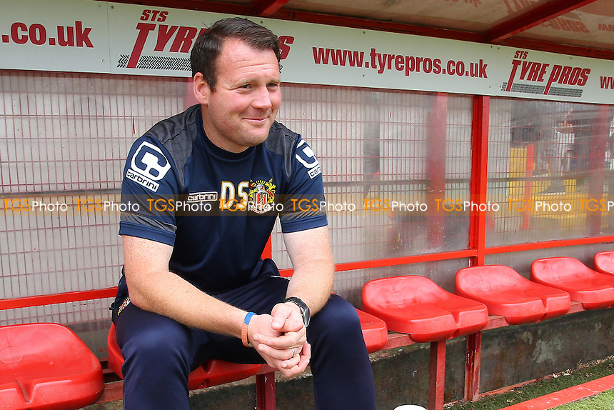 Stevenage manager Darren Sarll during Stevenage vs Hartlepool United, Sky Bet EFL League 2 Football at the Lamex Stadium on 3rd September 2016