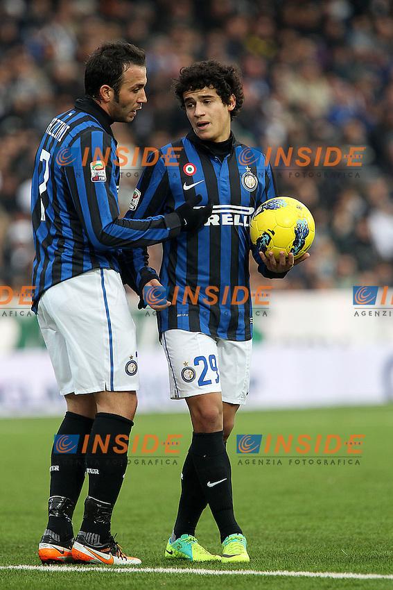 "Giampaolo Pazzini, Coutinho Inter..Cesena 18/12/2011 Stadio ""D.Manuzzi""..Football / Calcio Serie A 2011/2012..Cesena vs Inter..Foto Paolo Nucci Insidefoto"