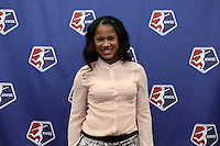 INDIANAPOLIS, IN - January 18, 2013: Zakiya Bywaters was selected by the Chicago Red Stars with the first overall pick. The National Women's Soccer League held its college draft at the Indiana Convention Center in Indianapolis, Indiana during the NSCAA Annual Convention.