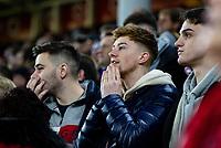 Sheffield United fans await the VAR decision for their third goal <br /> <br /> Photographer Alex Dodd/CameraSport<br /> <br /> The Premier League - Sheffield United v Manchester United - Sunday 24th November 2019 - Bramall Lane - Sheffield<br /> <br /> World Copyright © 2019 CameraSport. All rights reserved. 43 Linden Ave. Countesthorpe. Leicester. England. LE8 5PG - Tel: +44 (0) 116 277 4147 - admin@camerasport.com - www.camerasport.com