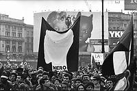 manifestazione antirazzista Milano Gen 92