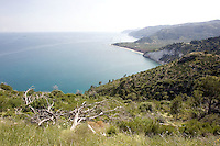 Una veduta della costa del Gargano, in Puglia.<br /> A view of the Gargano's coast, in Puglia.<br /> UPDATE IMAGES PRESS/Riccardo De Luca