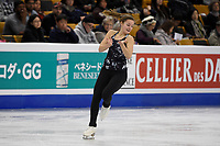 Tuesday, March 29, 2016: Kristen Spours of Great Britain skates during a practice session at the International Skating Union World Championship held at TD Garden, in Boston, Massachusetts. Eric Canha/CSM
