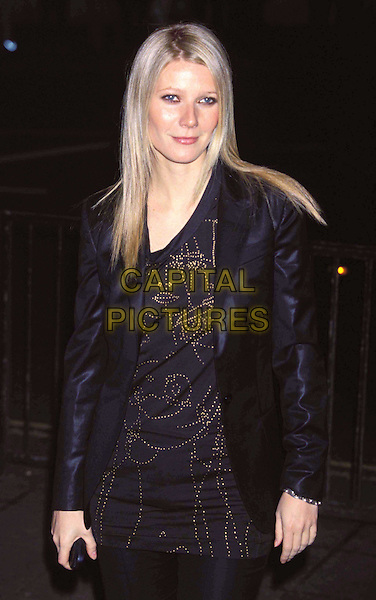 GWYNETH PALTROW   ..Mario Testino: Portraits preview party at the National Portrait Gallery ..Ref: 11382..half length, half-length, black, half length, half-length..www.capitalpictures.com..sales@capitalpictures.com..©Capital Pictures..