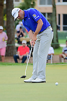 Ryan Palmer (USA) watches his putt on 2 during round 3 of the Honda Classic, PGA National, Palm Beach Gardens, West Palm Beach, Florida, USA. 2/25/2017.<br /> Picture: Golffile | Ken Murray<br /> <br /> <br /> All photo usage must carry mandatory copyright credit (&copy; Golffile | Ken Murray)