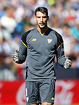 Sevilla FC's Sergio Rico celebrates goal during La Liga match. October 15,2016. (ALTERPHOTOS/Acero)