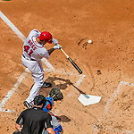 30 April 2017: Washington Nationals starting pitcher Joe Ross connects for an RBI single to score Washington's fifth run in the first inning against the New York Mets at Nationals Park in Washington, DC. The Nationals defeated the Mets 23-5, with the Nationals setting several individual and team records, in the third game of their weekend series. Mandatory Credit: Ed Wolfstein Photo *** RAW (NEF) Image File Available ***