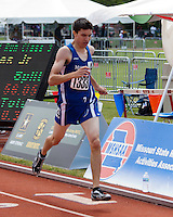 Marshfield senior Cole Burchfield runs to the finish in the Class 3 Boys 800 meter final, finishing 5th in 1:57.92.