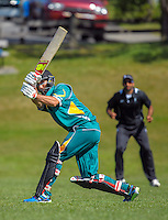 Naenae's Grant Elliott bats during the Ewen Chatfield Trophy Wellington premier men's club cricket match between Karori and Naenae at Benburn Park, Karori, Wellington, New Zealand on Sunday, 31 October 2015. Photo: Dave Lintott / lintottphoto.co.nz