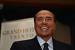 Former Italian Prime Minister Silvio Berlusconi gives an Interview at the newspaper Il Giornale at Grand Hotel Trento some days before Provincial election in Trentino, North Italy, on October 18, 2018.