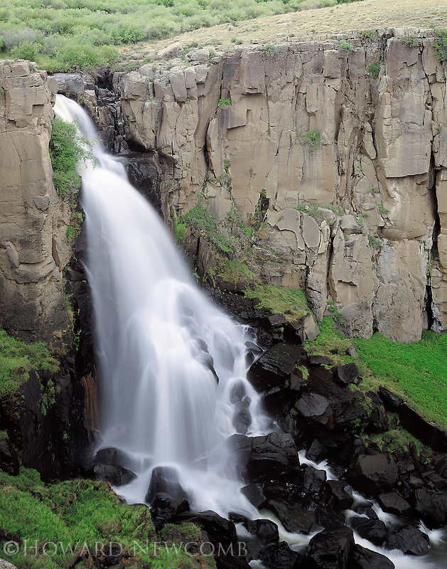 Clear Creek Falls near Creede, Colorado in the San Juan Mountain Range.