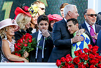 LOUISVILLE, KY - MAY 06: Trainer Todd Pletcher hugs jockey John Velazquez after Always Dreaming #5 won the Kentucky Derby on Kentucky Derby Day at Churchill Downs on May 6, 2017 in Louisville, Kentucky. (Photo by Candice Chavez/Eclipse Sportswire/Getty Images)