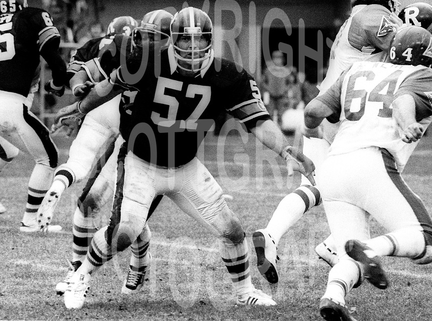 Ray Watrin Ottawa Rough Riders 1980. Photo F. Scott Grant