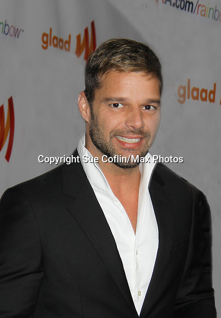 General Hospital Ricky Martin is honored the Vito Russo Award at the 22nd Annual Glaad Media Awards honoring Ricky Martin (GH) & Russell Simmons on March 19, 2011 at the New York Marriott Marquis, New York City, New York. (Photo by Sue Coflin/Max Photos)