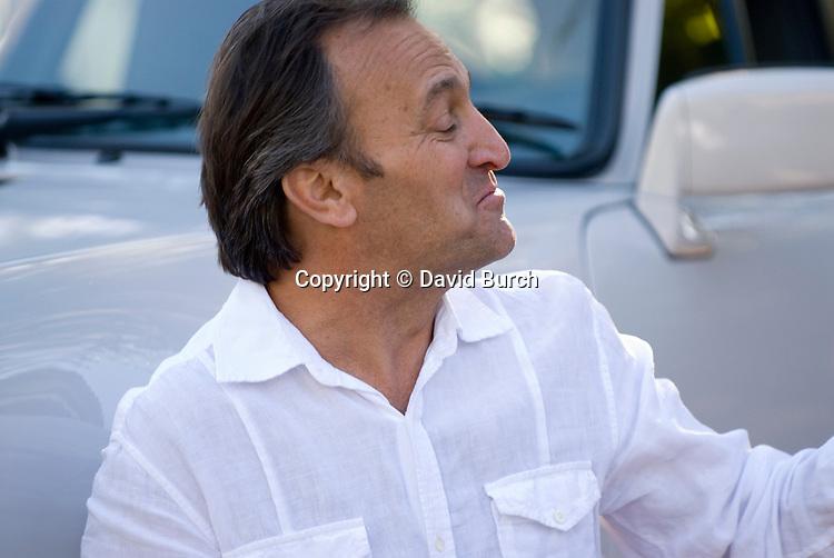 Man looking smug