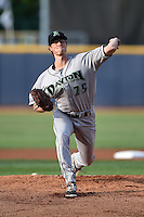 Dayton Dragons pitcher Nick Routt (25) delivers a pitch during a game against the Lake County Captains on June 7, 2014 at Classic Park in Eastlake, Ohio.  Lake County defeated Dayton 4-3.  (Mike Janes/Four Seam Images)