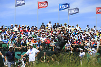 Bubba Watson (USA) tees off the 1st tee to start his match during Thursday's Round 1 of the 117th U.S. Open Championship 2017 held at Erin Hills, Erin, Wisconsin, USA. 15th June 2017.<br /> Picture: Eoin Clarke | Golffile<br /> <br /> <br /> All photos usage must carry mandatory copyright credit (&copy; Golffile | Eoin Clarke)