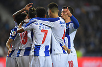 12th February 2019; Dragao Stadium, Porto, Portugal; League Cup 2019/2020, FC Porto versus Academico de Viseu; Players of FC Porto celebrate as  Alex Telles scored from a penalty kick in the 19th minute 1-0