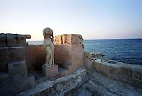 Libia  Sabratha .Citt&agrave;  romana a circa 67km da Tripoli.Le terme sul mare.<br /> Sabratha Libya.Roman city about 67km from Tripoli.<br /> The spa on the sea