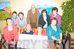 Helen O'Donoghue ran a draw to raise funds for the Cunamh Iveragh Project pictured here centre presenting a cheque for EUR2500 to Muiris O'Donoghue(Chairman Cunamh Iveragh) in the Ring of Kerry Hotel on Thursday night last also in the picture are members of the Cunamh Iveragh committee front l-r Marie Flood, Loreto Lynch, back l-r; Teresa Cronin, Christine Cahill, James O'Sullivan, Bridie O'Neill & Bridget O'Mahony..